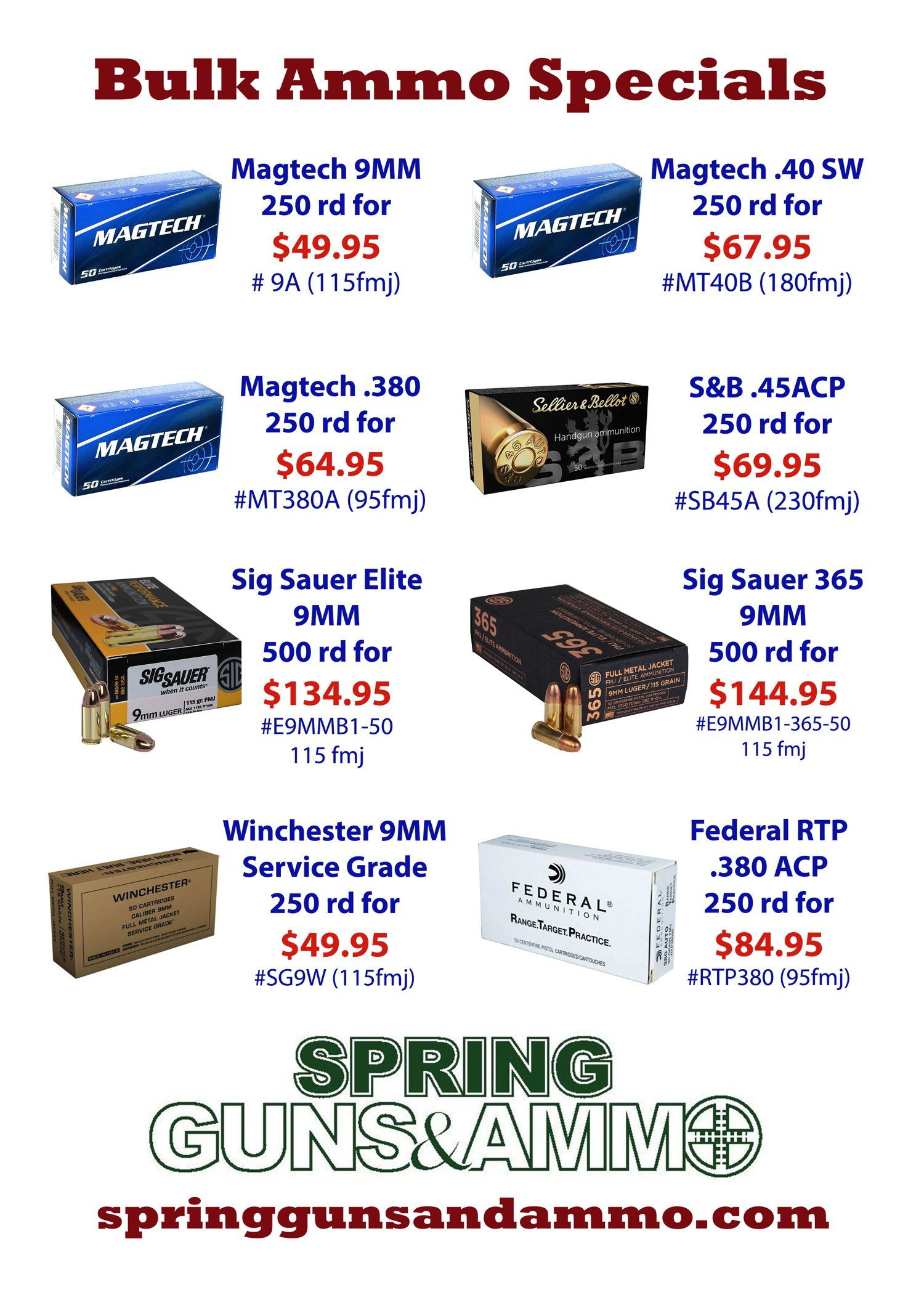 Ammo Sale Flyer Oct 2018