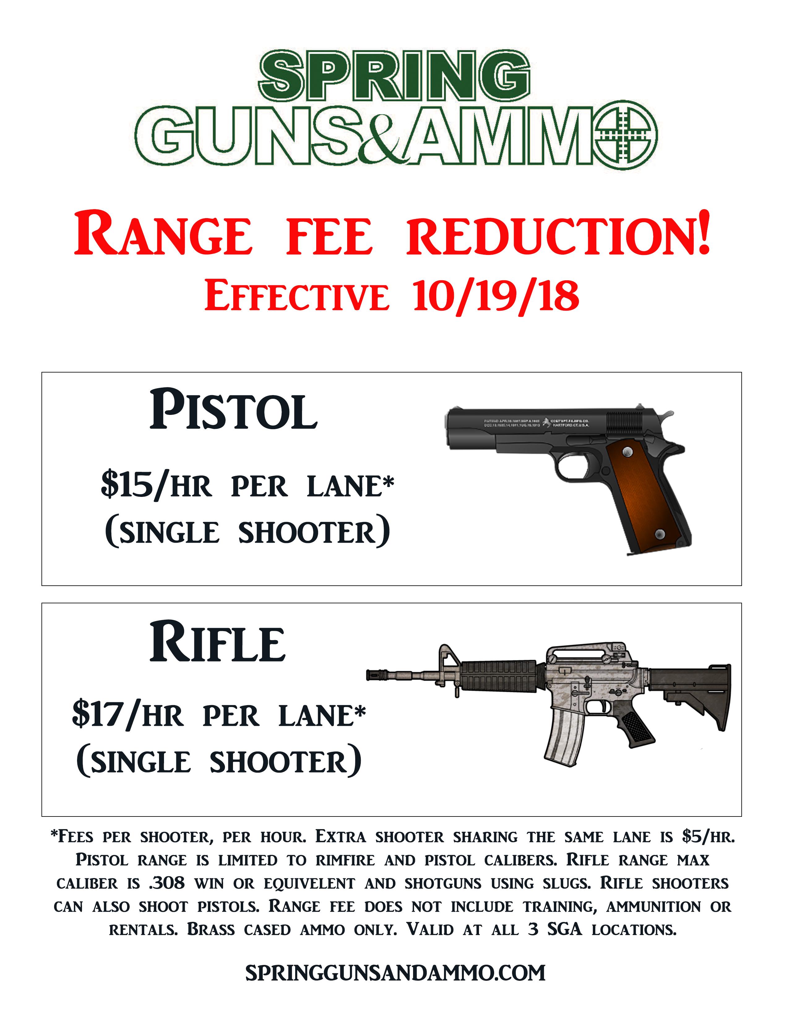 SGA Range Fee Showroom Flyer