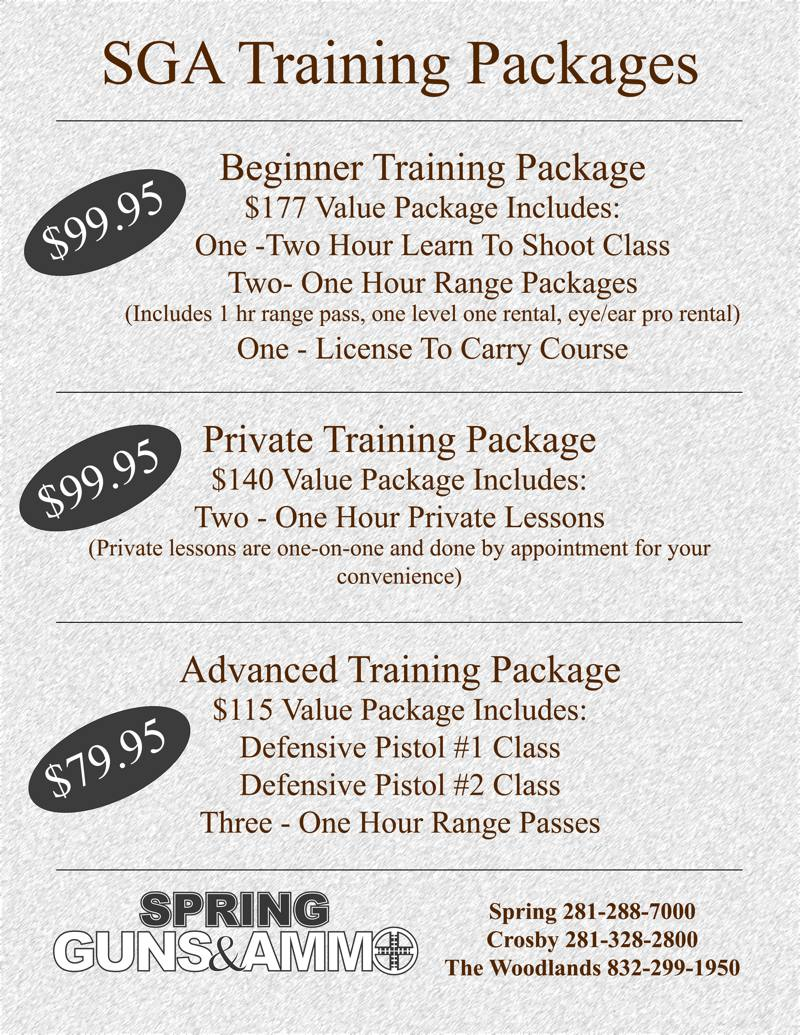 SGA Training Packages