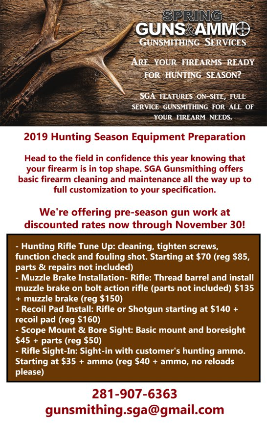 Gunsmith Fall Flyer 2019