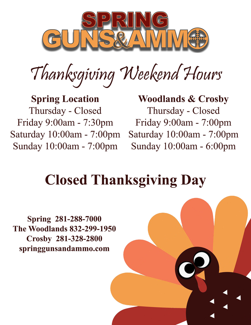 Thanksgiving Hours All Stores