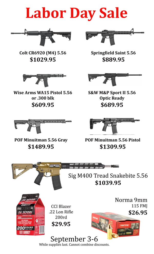 Labor Day Sale Flyer AR's